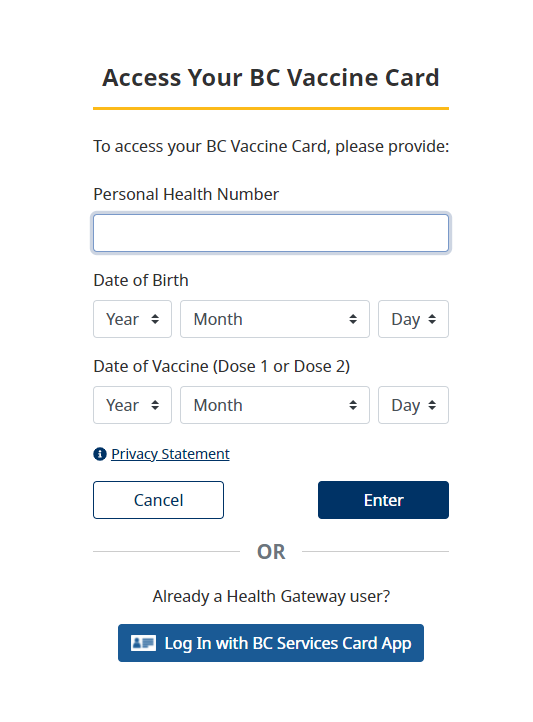How to get your BC Vaccine Card?